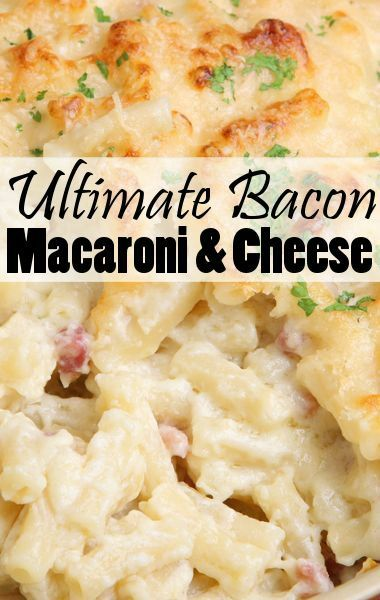 ... With Gruyere, Cheddar & Bacon | Cheese Recipes, Mac Cheese and Mac