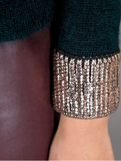 metallic - printing onto knit - collaboration ideas    foiled cuff