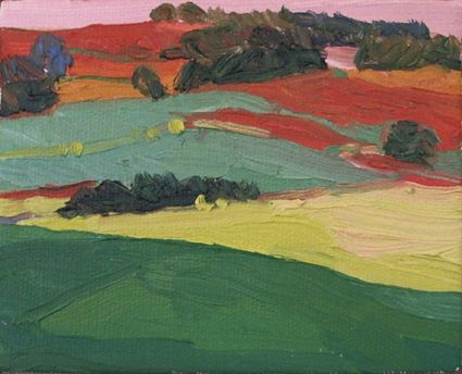 Landscape No 2. Oil on Canvas.