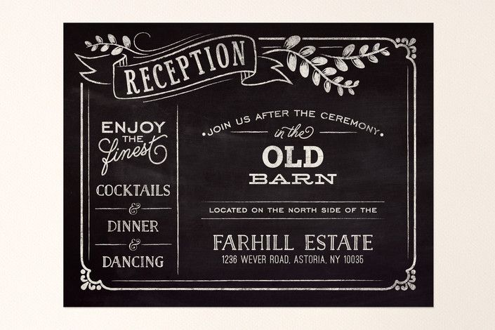 Slated Forever Reception Cards by GeekInk Design   Minted