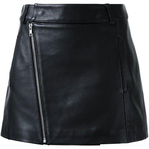 Dion Lee biker mini skirt ($665) ❤ liked on Polyvore featuring skirts, mini skirts, black, short skirts, leather miniskirt, leather skirt, mini skirt and bike skirt