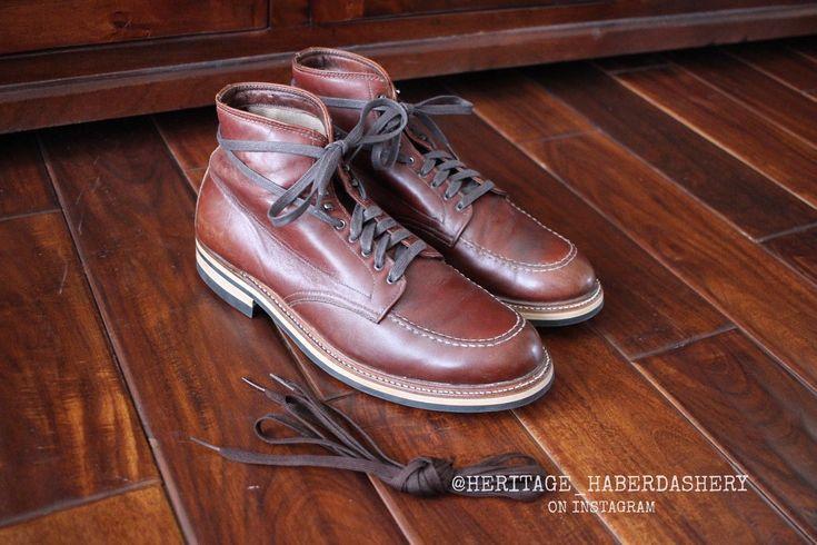 CUSTOM Makeup Alden 405 Indy Boot w/ NEW Dainite Studded Sole Sz. 10 B/D Vintage | eBay