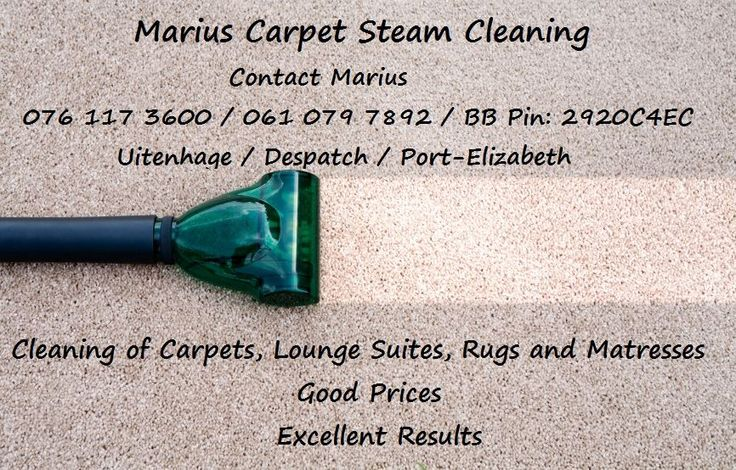Marius' Carpet steam cleaning, deodorizing and sanitising: I do domestic and for company's in Port Elizabeth and surrounds. Some clients include major company's in PE. I'm a…