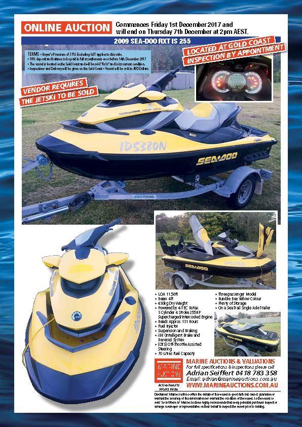 2009 SEA-DOO RXT IS 255 #boatsforsale