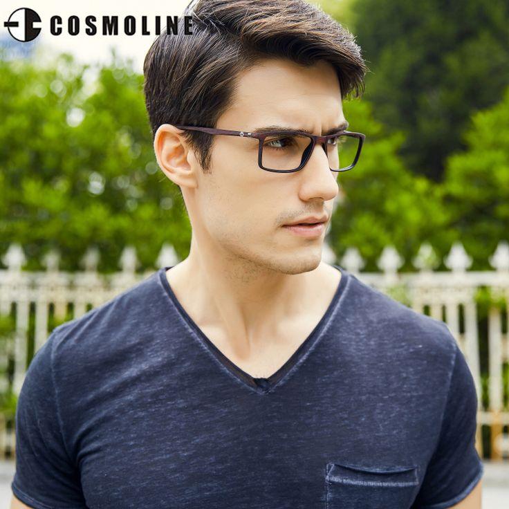 Cosmoline New Designer Glasses Frame For Men Ultra Light Tr90 Frames Men'S Optical Frames Wooden Finish Frame 488