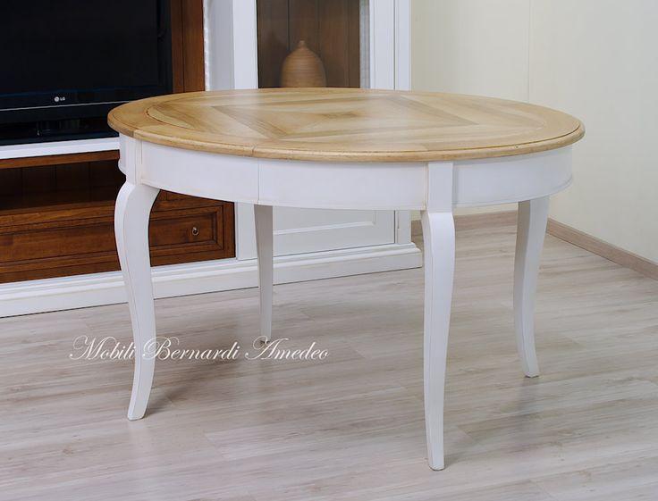 Tavolo ovale allungabile bianco e noce chiaro