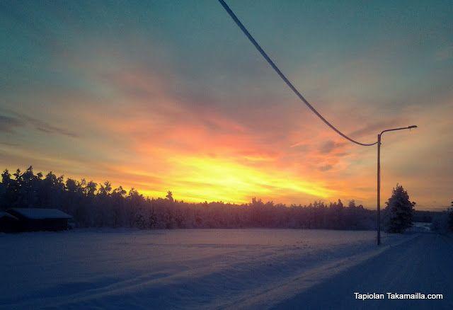 Sunset in January 2013 Auringonlasku kaamoksessa