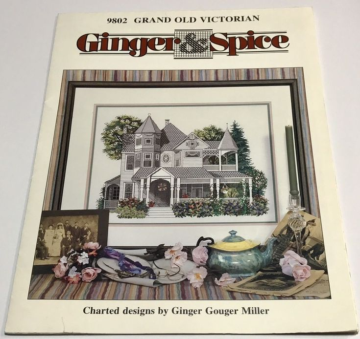 Ginger and Spice Grand Old Victorian Cross Stitch Pattern NEW Craft  #GingerandSpice