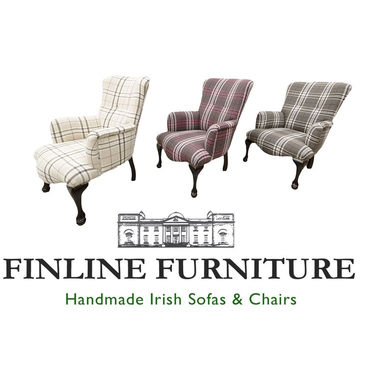Aisling chairs in Plaid