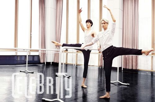"""Kai has gone back to his root's of ballet!!! 남성 발레 댄서 namseong balle daenseo:) He mentioned in an article that he wanted to be a ballerina from youth after viewing """"The Nutcracker."""" Ballet is very expressive dance, though I am only a spectator, it has definitely infiltrated my life. Mostly through tv  movies. I'm empathetic  equally excited for him. Especially since his mentor praised him for his posture, form  memory of the specific moves. I believe that Kai's heart never left ballet:)"""