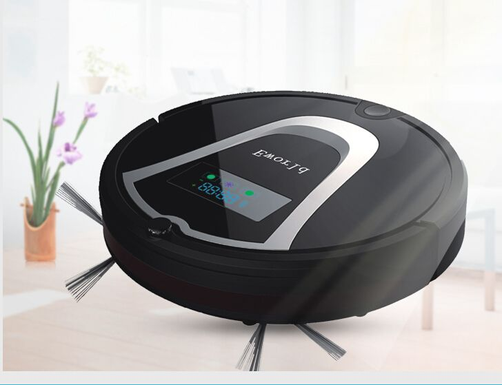 (Free to Europe)  Eworld M884 Mini Robot Vacuum Cleaners With Virtual Wall Brush With 2200MAH Battery For Home Floor Cleaning