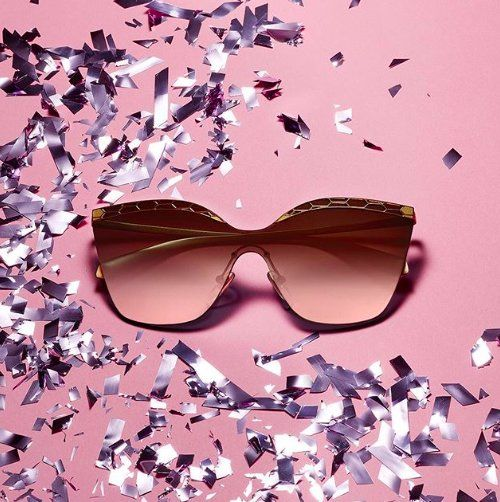 Glitz and glamour. Arrive in style to all your holiday parties with #Bulgari shades from #SunglassHut!  #PromenadeCC
