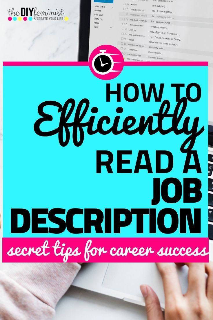 The Best Way To Read A Job Description Speed Up Your Search Career Advice Job Description Reading Jobs Speed writing changing it up