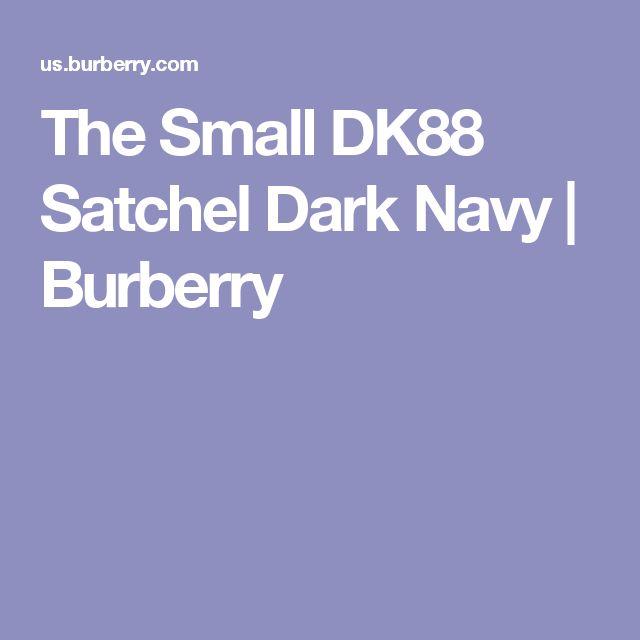 The Small DK88 Satchel Dark Navy   Burberry