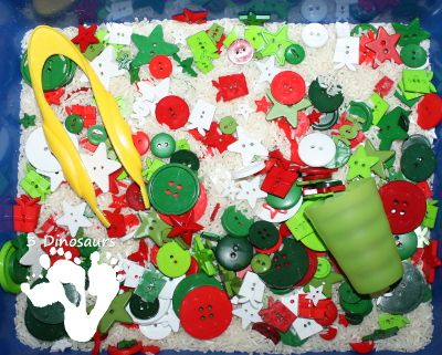 Christmas Button Sensory Bin