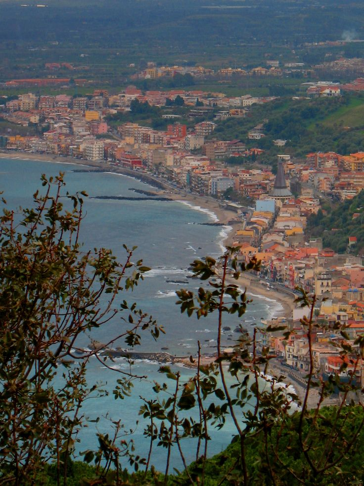 Giardini Naxos from the top Sicily italy, Taormina