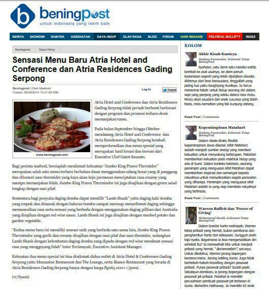 BeningPost.com - 8 September 2014