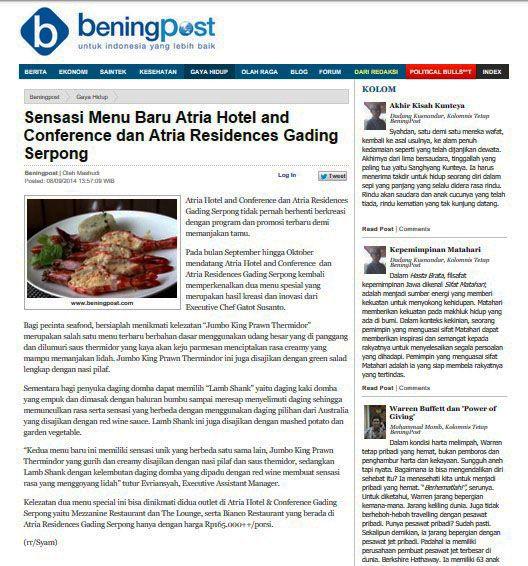 BeningPost.com - 8 September 2014