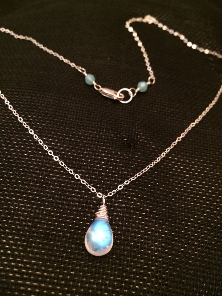 Moonstone Necklace /Sterling Silver Moonstone Necklace ...