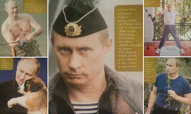 2016 calendar features Russian President in a year of bizarre poses- I would love a copy of this calendar!!