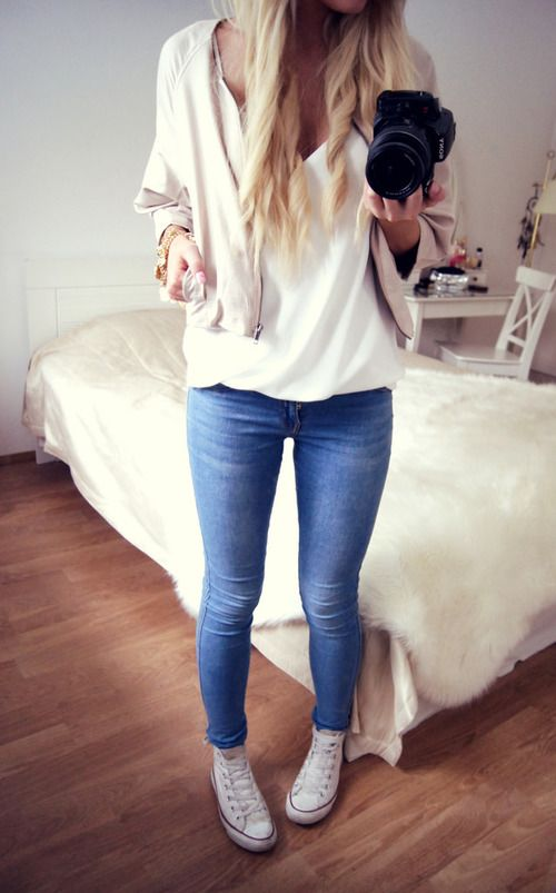 simple cute converse * outfit