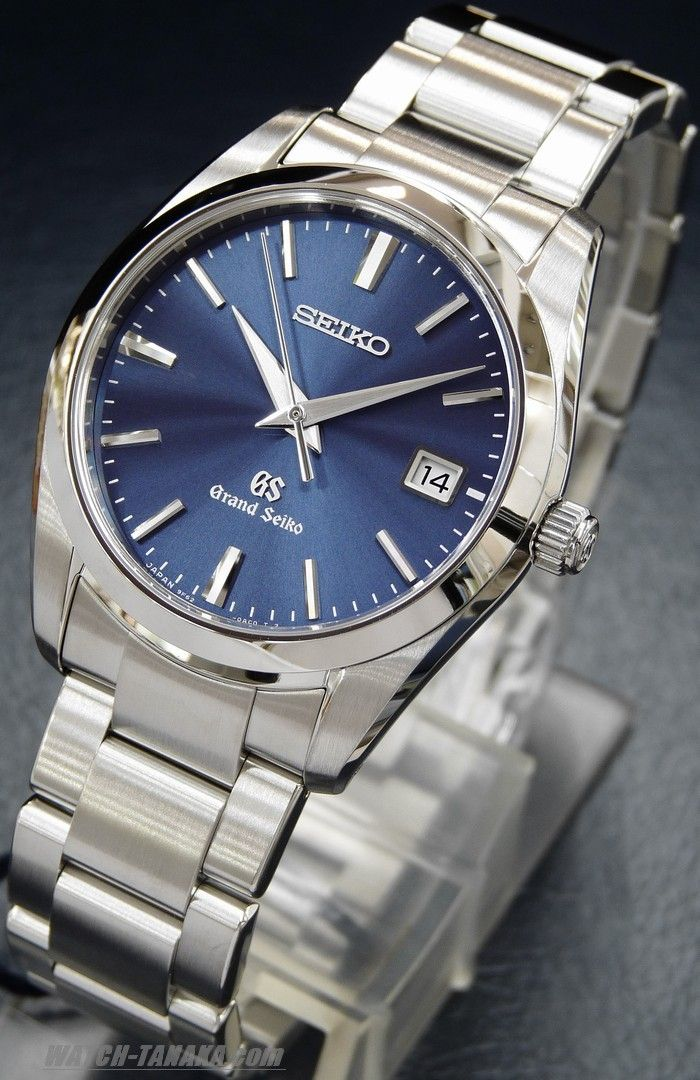 Grand Seiko with a navy dial