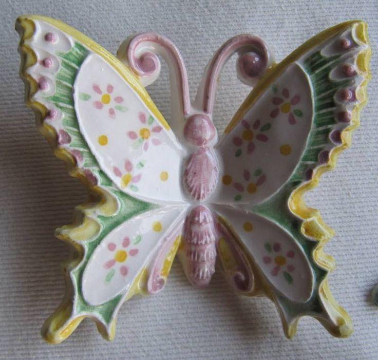 Farfalla in ceramica, misura grande.