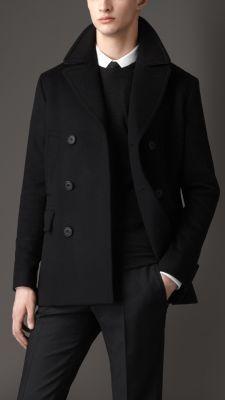 Virgin Wool Cashmere Pea Coat