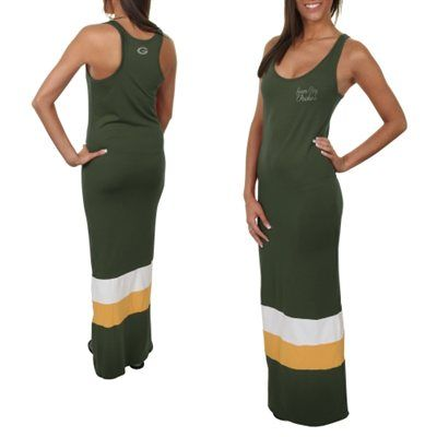 '47 Brand Green Bay Packers Ladies Maxi Dress - Green