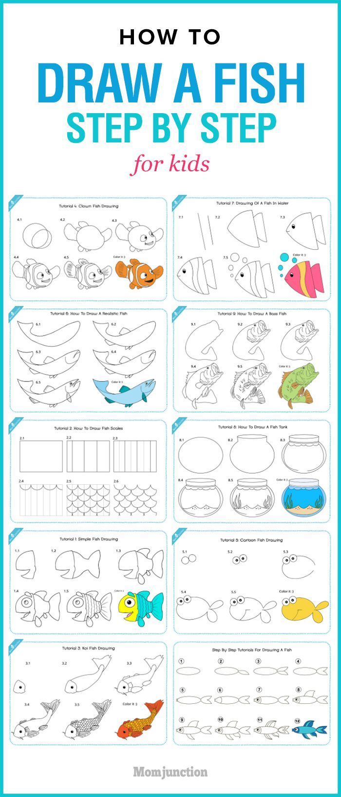 How To Draw A Fish Step By Step For Kids?