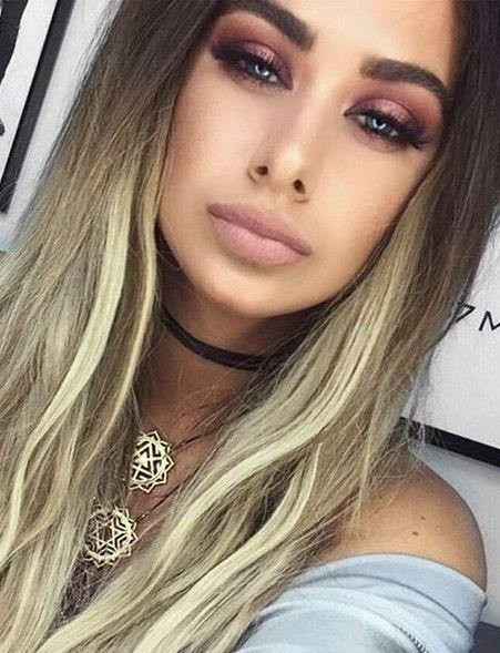 Nude Lips + Rose Gold Eyeshadow