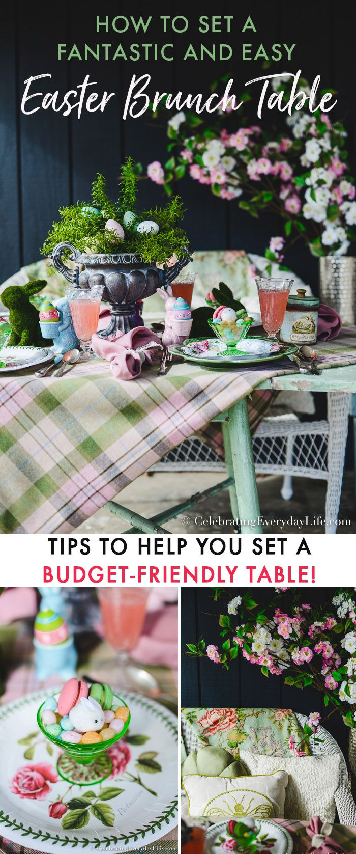 How to Set a Fantastic and Easy Easter Brunch Table. Easy and budget-friendly ideas to set a Beautiful Easter table this year! via @jencarrollva