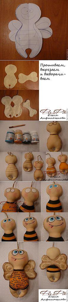 Шьем весеннюю пчёлку Майю - Ярмарка Мастеров - ручная работа, handmade