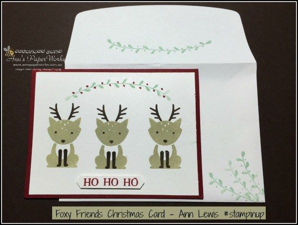 Foxy Friends Christmas, 2016-17 Stampin' Up! Catalogue  Ann's PaperWorks Ann…