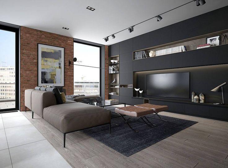 le 25 migliori idee su soggiorno su pinterest | colori della ... - Decorare Con Le Pareti Grigie E Mobili Marrone