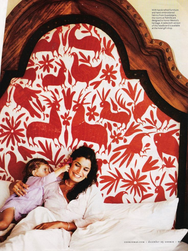 Otomi textiles. The first time I ever saw this textile on a headboard was in Mexico's.. 'One & Only Palmilla'. It stole my heart away!