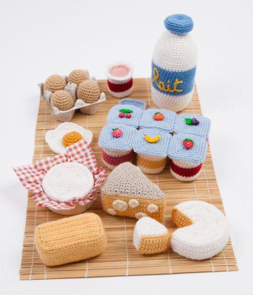 卵乳製品 あみぐるみ かぎ針編み物