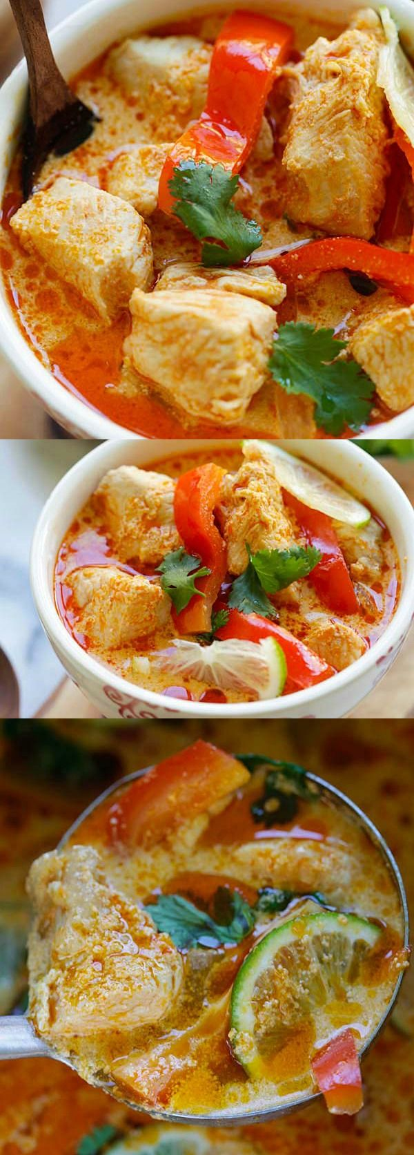 The easiest and fastest Thai coconut chicken recipe ever! Takes only 15 mins and dinner is ready   rasamalaysia.com