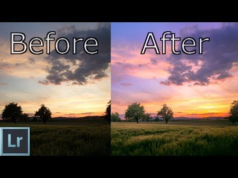 Lightroom 6 cc Tutorial - Create AMAZING Sunsets In Depth Explained - Landscape Photography Editing - YouTube