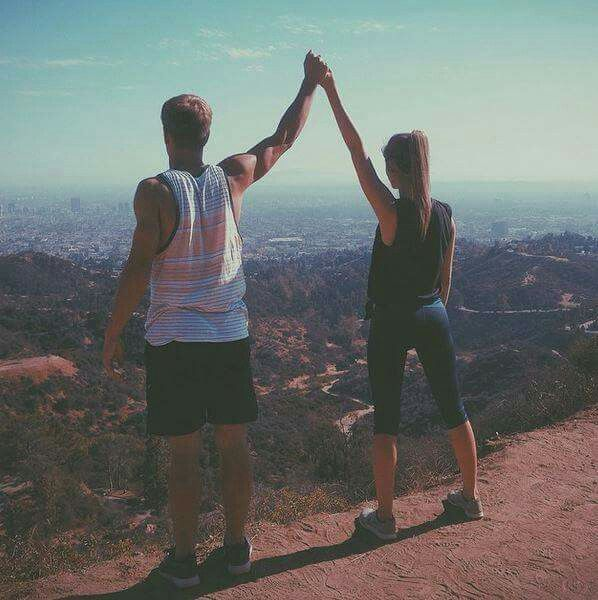 Blake & Sadie....lol that's funny I went hiking and I took a pic exavly like that