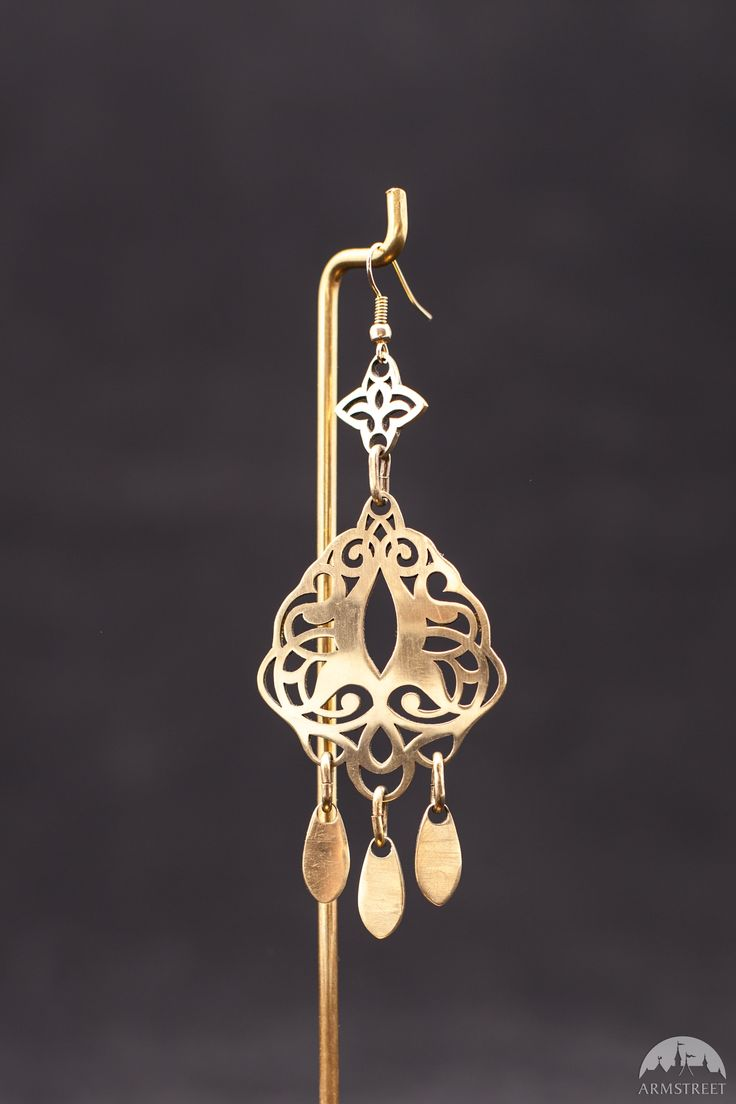 """Brass Earrings """"Lost Princess""""  Available from: https://armstreet.com/store/accessories/brass-earrings-lost-princess"""