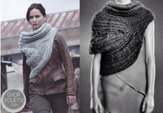 Shop Your Tv: Catching Fire: Katniss' Grey Knit Cowl Scarf