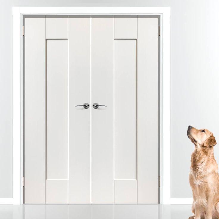 white double door. Symmetry Axis White Primed Panel Door Pair Double