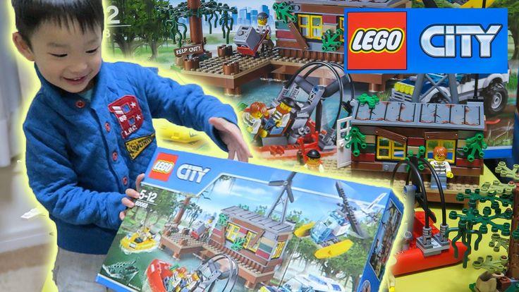 【LEGO】レゴシティ 沼地のアジトを作って遊んだよ〜オサム初めての小さいレゴ【オサ4歳】