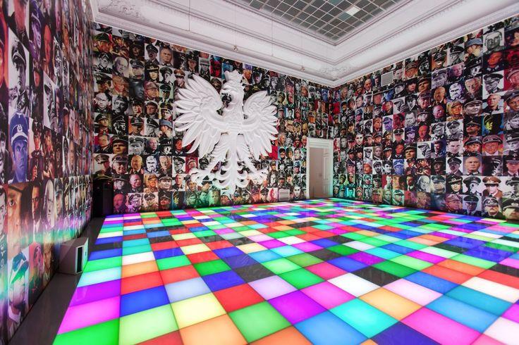 """Untitled (Polska Über Alles), 2012, exhibition """"Piotr Uklański. Czterdzieści i cztery"""", Zachęta National Gallery of Art, photo Maciej Landsberg"""