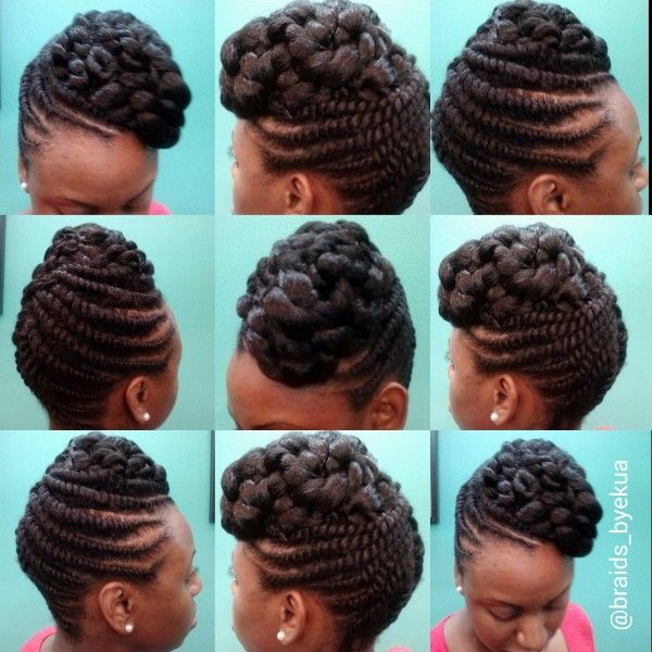 Flat Twisted updo by Ekua - http://www.blackhairinformation.com/community/hairstyle-gallery/updos/flat-twisted-updo-ekua/ #updo #flattwists #naturalhair