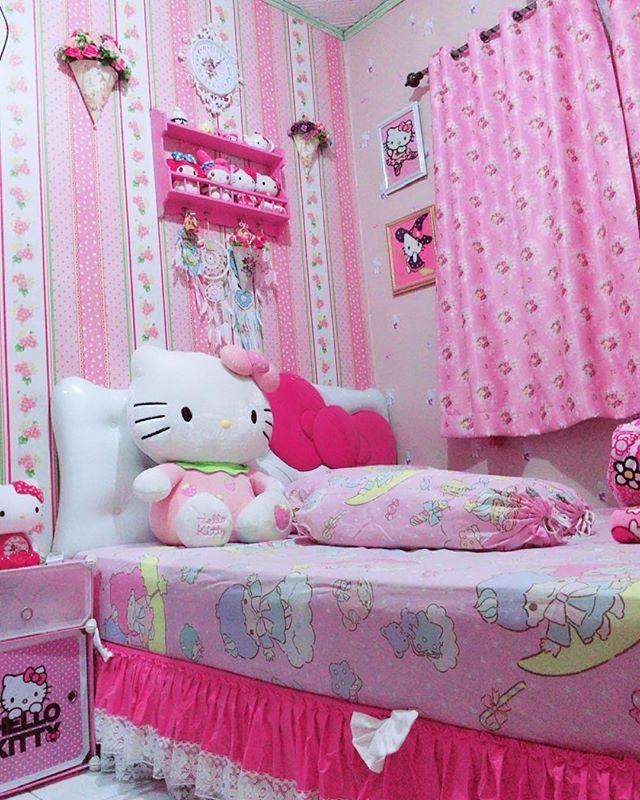Pin Di Cute Kawaii Home Luxury hello kitty pink room