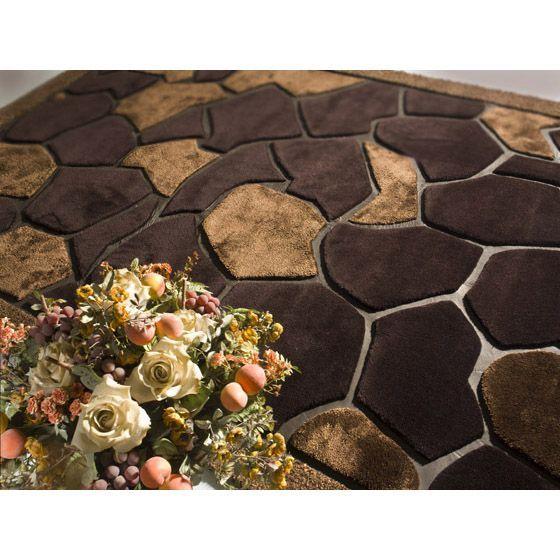Коричневый шерстяной ковер с кожаными вставками AFRICA #carpet #carpets #rugs #rug #interior #designer #ковер #ковры #дизайн  #marqis