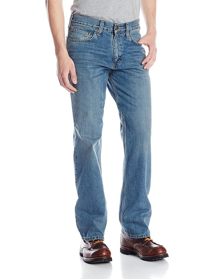 Carhartt Men's Relaxed Straight Leg Five Pocket Jean >>> Don't get left behind, see this great boots : Carhartt Boots