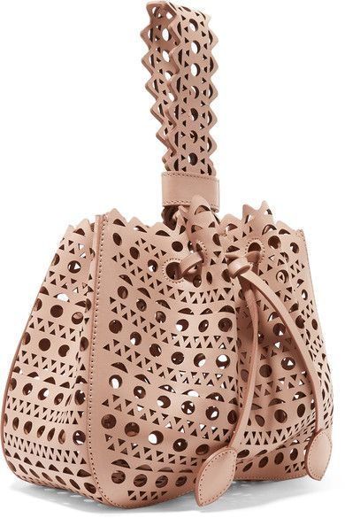 Alaïa - Vienne Laser-cut Leather Bucket Bag - Blush - one size